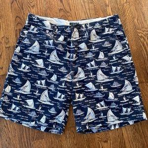 J Crew Men's Boat Sail South Seas Shorts